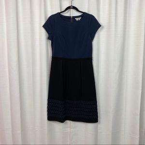 Boden Black&Blue Colorblock A-Line Dress Sz.8L